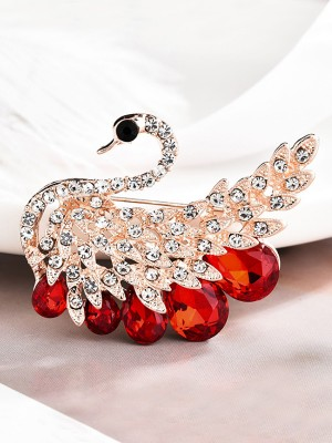Gorgeous Alloy With Rhinestone Ladies' Brooch