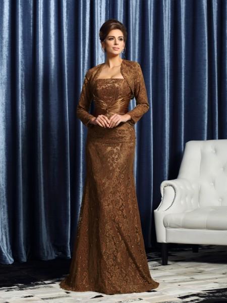 Sheath/Column Strapless Sleeveless Long Silk like Satin Mother of the Bride Dresses