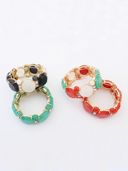 Occident Sweet all-match Gemstone Elastic force Hot Sale Bracelets