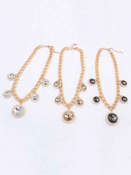 Occident Palace Temperament Exquisite Gemstone Hot Sale Necklace