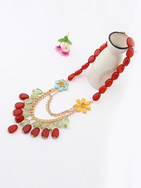 Occident Beautiful woman Stylish Jade Hot Sale Necklace