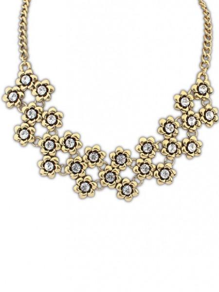 Occident Stylish Retro Metallic Plum flower Hot Sale Necklace