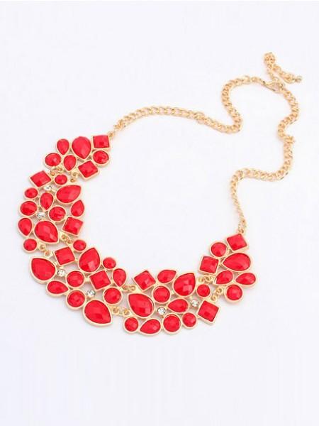 Occident Retro Luxurious Geometry Stitching Stylish all-match Hot Sale Necklace