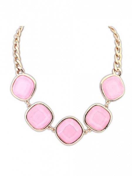 Occident Exquisite Gemstone Geometry Hot Sale Necklace