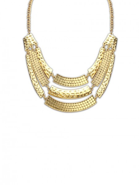 Occident Major Suit Street Shooting Metallic Personality Hot Sale Necklace