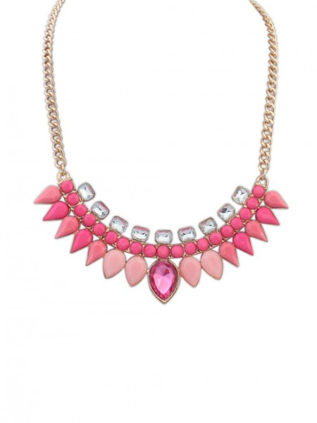 Occident Candy Colors Sweet Water Drop all-match Hot Sale Necklace