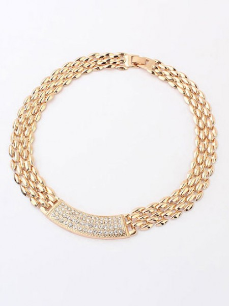 Occident Simple Exquisite Metallic with diamonds Hot Sale Necklace