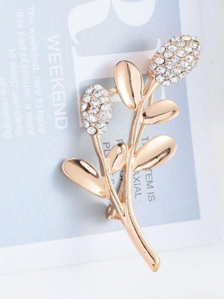 Attractive Alloy With Rhinestone Ladies' Brooch