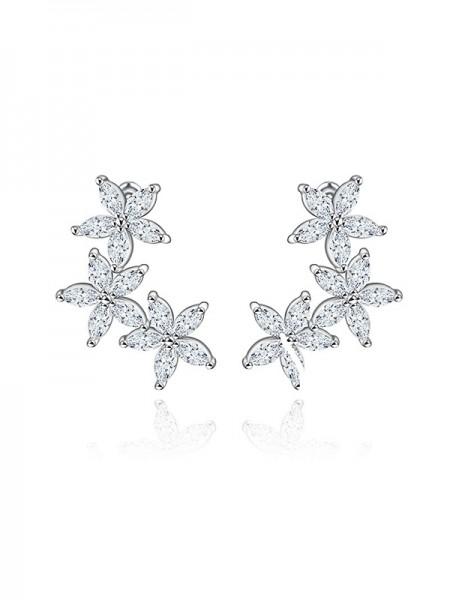 Beautiful Zircon With Cubic Zirconia Earrings For Bride