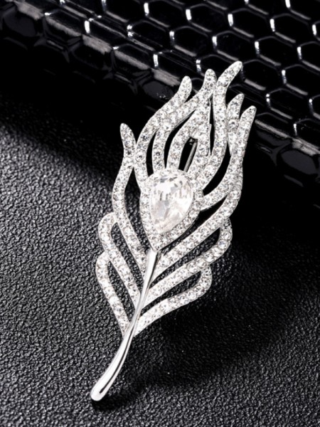 Trending Alloy With Rhinestone Ladies' Brooch