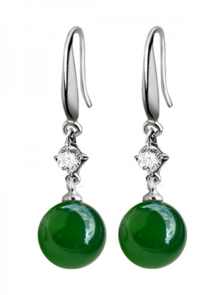 Elegant Copper With Agate Hot Sale Earrings